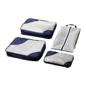 UPPTÄCKA Packing bag, set of 4, dark blue - 302.351.15