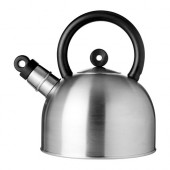 VATTENTÄT Kettle, stainless steel, black
