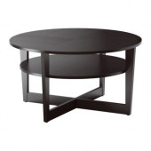 VEJMON Coffee table, black-brown - 601.366.80