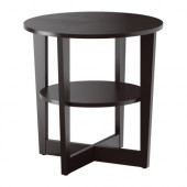 VEJMON Side table, black-brown - 401.366.81