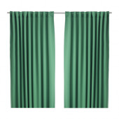 WERNA Block-out curtains, 1 pair, green - 502.938.64
