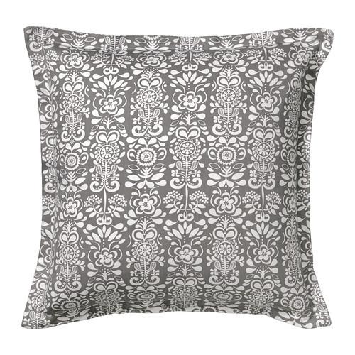 ÅKERKULLA Cushion cover, gray/white - 402.812.77