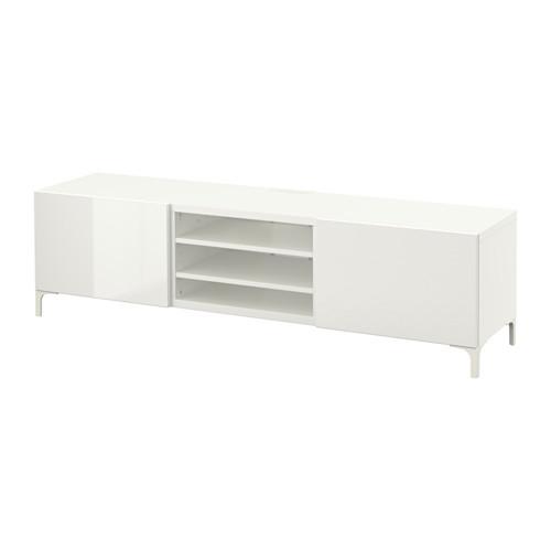 BESTÅ TV unit with drawers, white, Selsviken high-gloss/white - 890.638.00