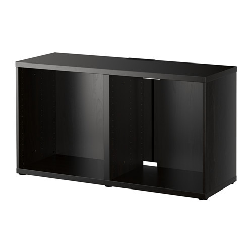 BESTÅ TV unit, black-brown - 402.998.85
