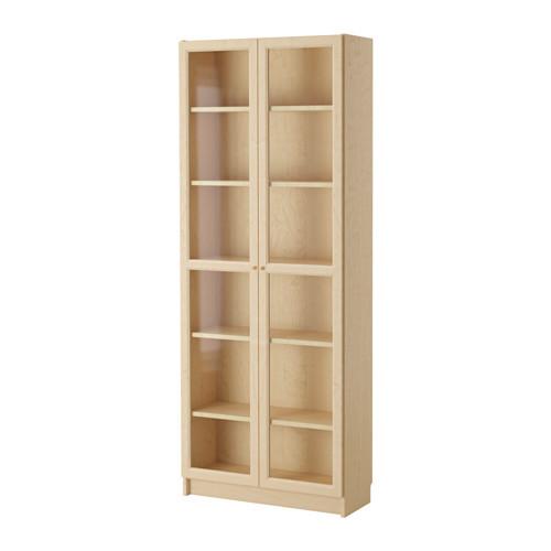 BILLY / OXBERG Bookcase, birch veneer - 790.234.09