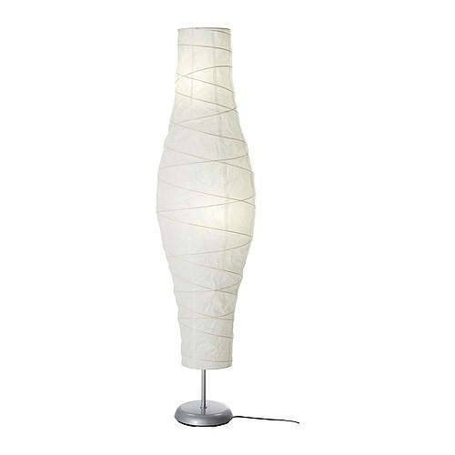 DUDERÖ Floor lamp, silver-color/white - 802.135.97