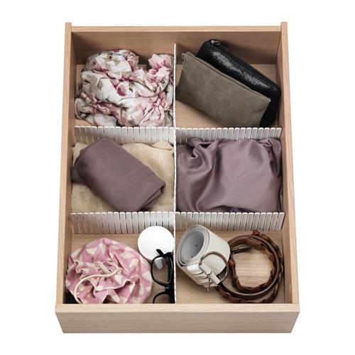 HÖFTA Divider for drawer, white - 202.821.07