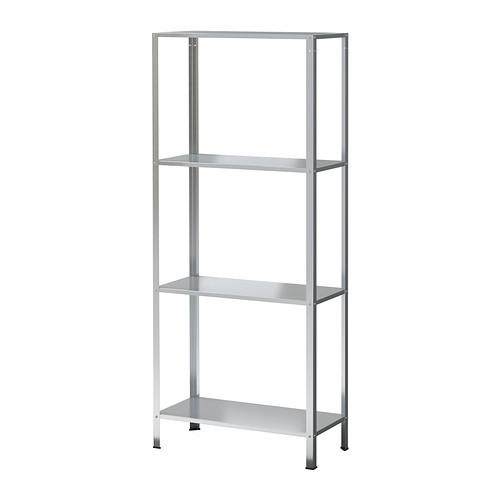 HYLLIS Shelving unit, indoor/outdoor galvanized - 002.785.78
