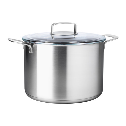 IKEA 365+ Stock pot with lid, stainless steel, glass - 502.567.48