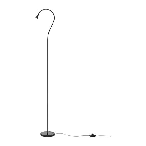 JANSJÖ LED floor/read lamp, black - 902.142.14