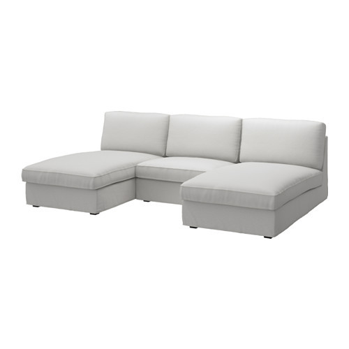 KIVIK 2 chaises and 1-seat section, Orrsta light gray - 190.113.86