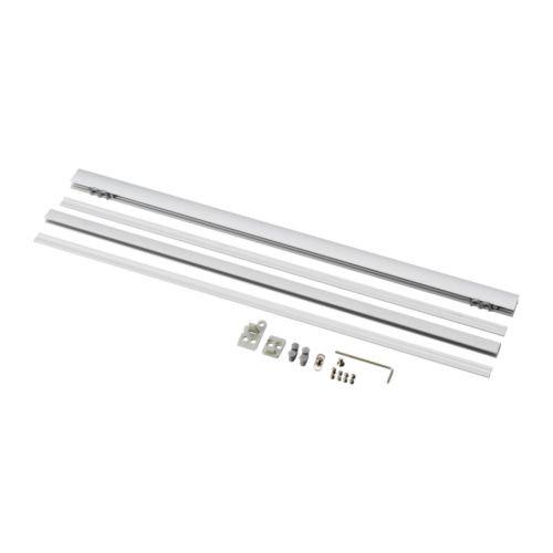 KVARTAL Top and bottom rail, aluminum color - 300.793.70