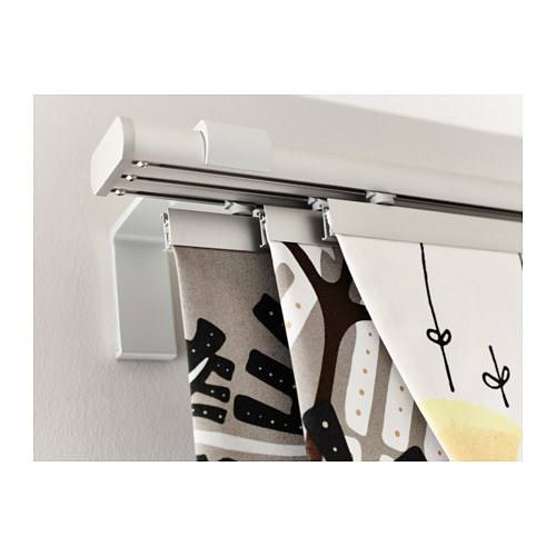 KVARTAL Triple curtain  rail, aluminum color - 800.793.63