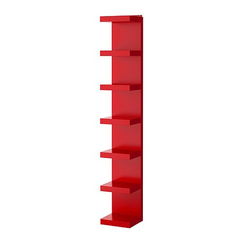 LACK Wall shelf unit, red - 801.637.81