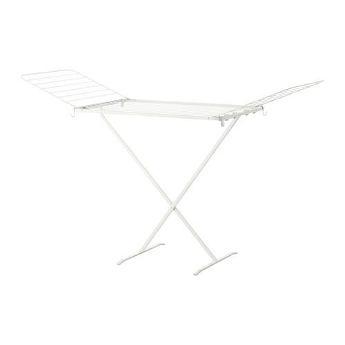MULIG Drying rack, indoor/outdoor, white - 502.287.55