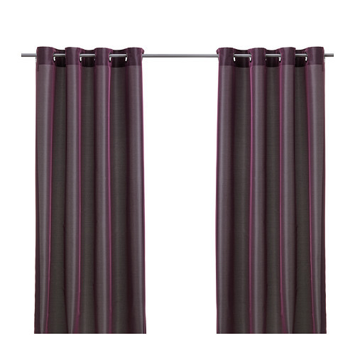 PÄRLBUSKE Curtains, 1 pair, dark lilac - 102.644.01