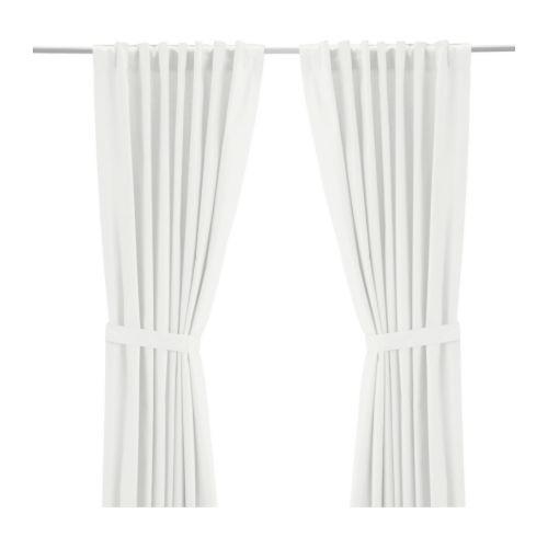 RITVA Curtains with tie-backs, 1 pair, white - 800.638.33