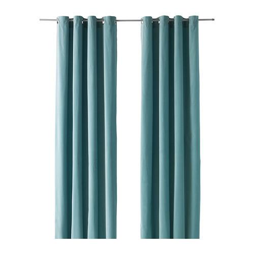 SANELA Curtains, 1 pair, light turquoise - 202.390.10