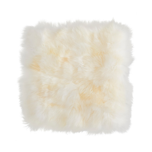 SKOLD Cushion cover, sheepskin, white - 402.728.76