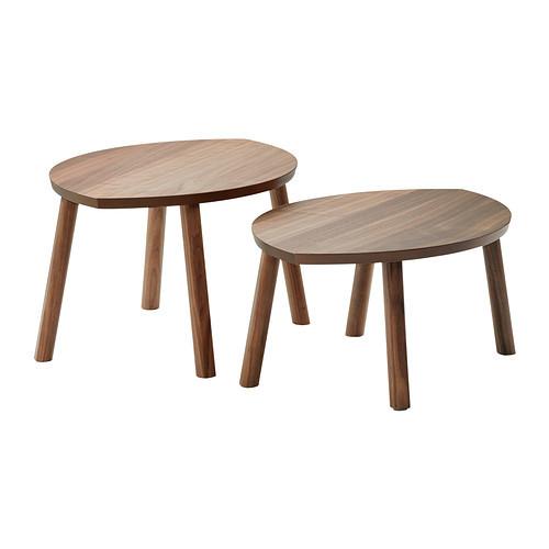 STOCKHOLM Nesting tables, set of 2, walnut veneer - 102.397.13