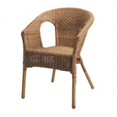 AGEN Armchair, rattan, bamboo - 500.583.76