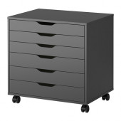 ALEX Drawer unit on casters, gray - 502.649.27