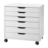 ALEX Drawer unit on casters, white - 401.962.41