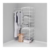 ALGOT Frame/wire baskets/rod, white - 499.174.10