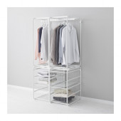ALGOT Frame with rod and wire baskets, white - 299.246.14