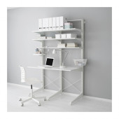 ALGOT Post/foot/shelves, white - 390.177.02