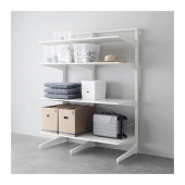 ALGOT Post/foot/shelves, white - 590.177.15