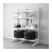 ALGOT Post/foot/shelves, metal white - 790.177.19