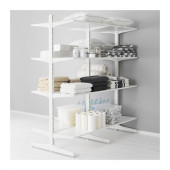 ALGOT Post/foot/shelves, white - 790.177.24