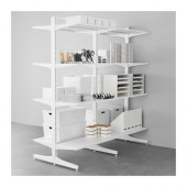 ALGOT Post/foot/shelves, metal white - 890.177.28