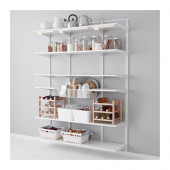 ALGOT Wall upright, shelf and basket, white - 990.942.07