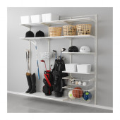 ALGOT Wall upright, shelf and basket, white - 190.999.25
