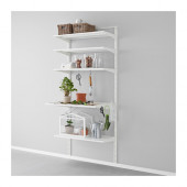 ALGOT Wall upright, shelf and hook, metal white - 190.942.25