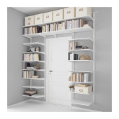 ALGOT Wall upright/shelves, white - 890.942.17