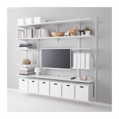 ALGOT Wall upright/shelves, white - 690.946.85