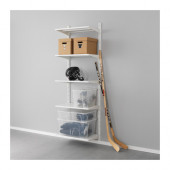 ALGOT Wall upright/shelves, metal white - 899.326.87