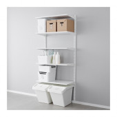 ALGOT Wall upright/shelves, white - 999.037.88