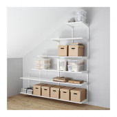 ALGOT Wall upright/shelves, white - 599.063.45