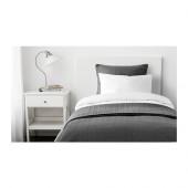 ALINA Bedspread and cushion cover, dark gray - 801.626.49