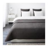 ALINA Bedspread and 2 cushion covers, dark gray - 001.626.48