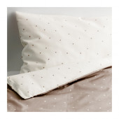 ÄLSKAD 4-piece bed linen set for crib, white, beige - 702.901.81