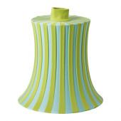 ÄMTEVIK Lamp shade, blue, green stripe - 502.873.06