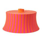 ÄMTEVIK Lamp shade, orange, pink stripe - 902.873.14