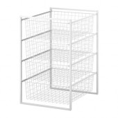 ANTONIUS Frame and wire baskets, white - 198.764.54