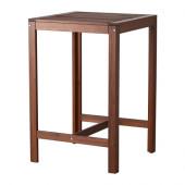 ÄPPLARÖ Bar table, outdoor, brown stained - 502.880.42