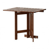 ÄPPLARÖ Gateleg table for wall, outdoor, brown stained - 802.917.31